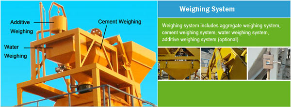 weighing system of portable concrete plant